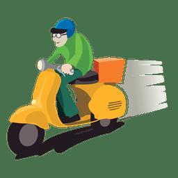 Homem de entrega na moto