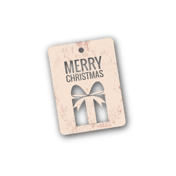 Die cut christmas gift tag