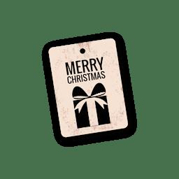 Etiqueta de regalo de Navidad troquelada