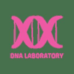 Ícone plana de laboratório de DNA
