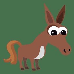 Natividade cristã de burro dos desenhos animados
