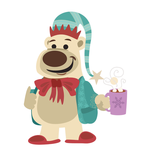 Donkey on santa costume Transparent PNG