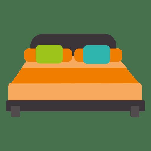 Icono plano de cama doble Transparent PNG