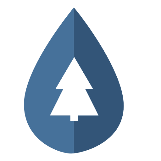 Droplet pine tree icon Transparent PNG