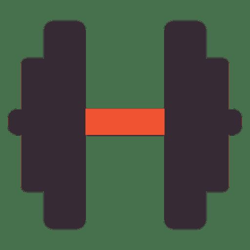 Icono de mancuerna plana Transparent PNG
