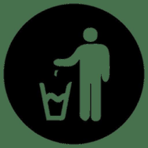 Dustbin round service icon