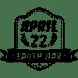 Emblema de fita do dia da terra
