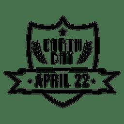 Emblema de escudo do dia da terra