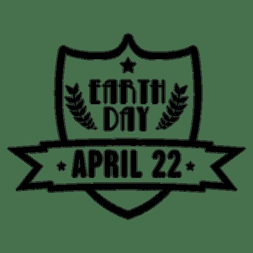 Emblema de escudo do dia da terra Transparent PNG