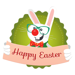 Easter rabbit message banner