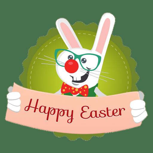 Easter rabbit message banner Transparent PNG