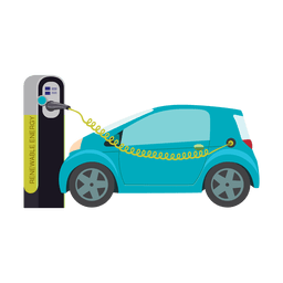 Electric car charging.svg