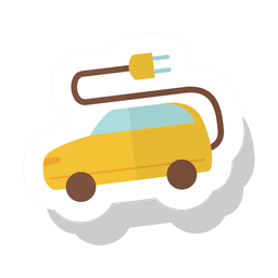 Electric car sticker.svg