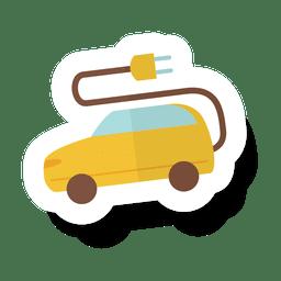 Etiqueta engomada del coche eléctrico.svg