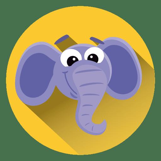 Icono de círculo de dibujos animados de elefante Transparent PNG