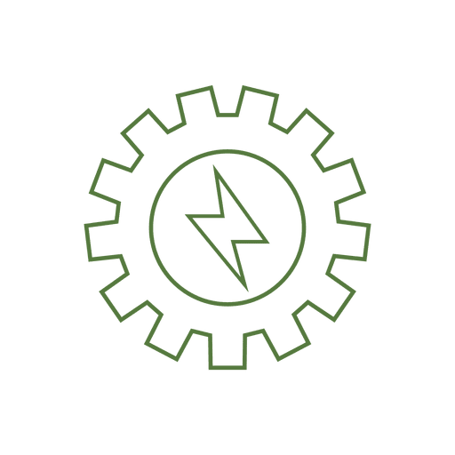 Energy gear line icon.svg Transparent PNG