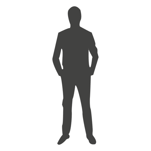 Executive standing silhouette Transparent PNG