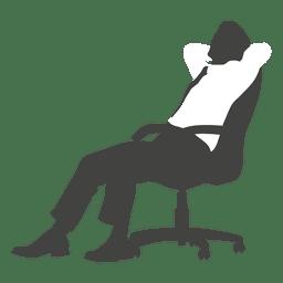 Executivo cansado na cadeira