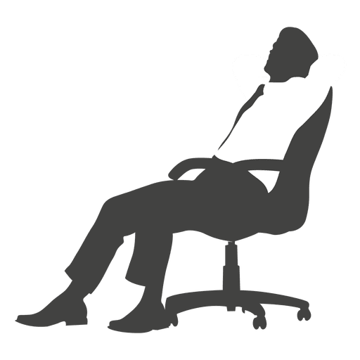 Executive tired on chair Transparent PNG