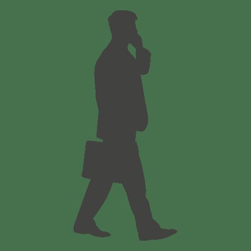 Ejecutivo caminando hablando telefono Transparent PNG