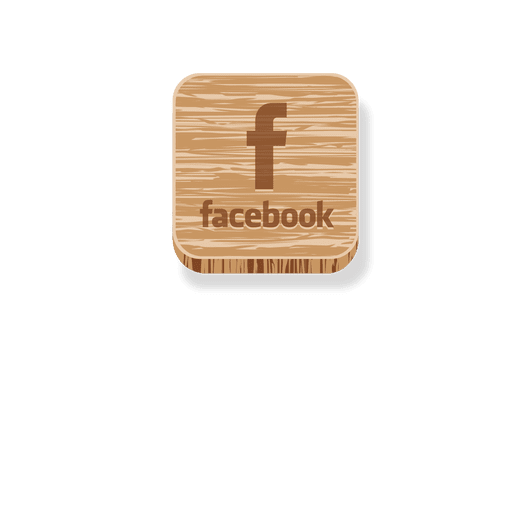 Facebook wooden square icon Transparent PNG