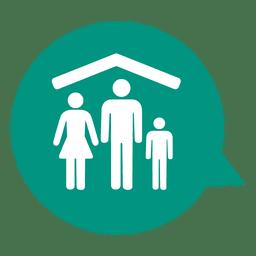 Icono de bienes raíces de casa de familia