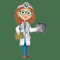 Desenho de médico feminino