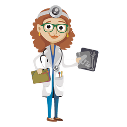 Female doctor cartoon