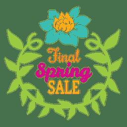 Emblema de venda final de primavera