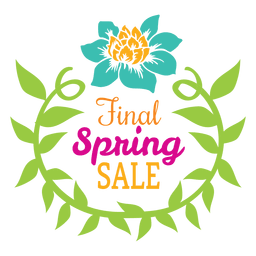 Final spring sale badge