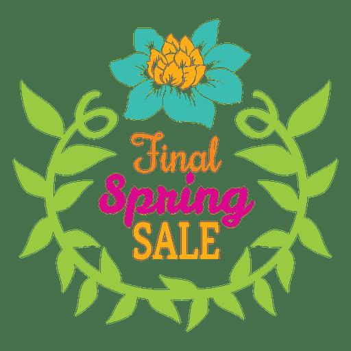 Final spring sale badge Transparent PNG