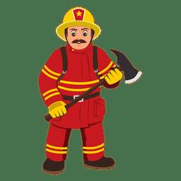 Caricatura de profesión de bombero
