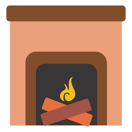 99925a15154fa Fireplace flat icon - Transparent PNG   SVG vector