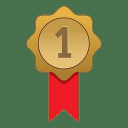 Erster Platz Gold Abzeichen