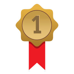 First place gold badge