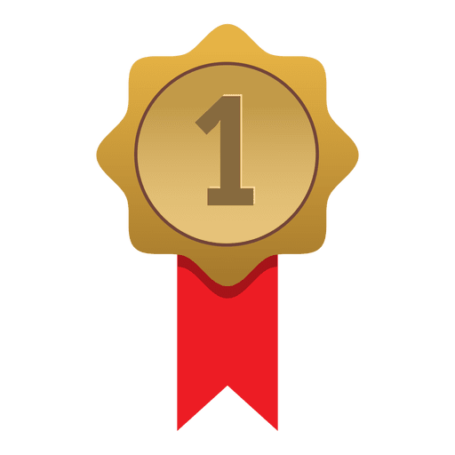 First place gold badge Transparent PNG