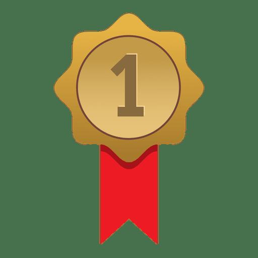 Primeiro lugar emblema de ouro Transparent PNG