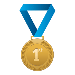 Primer lugar medalla de oro.