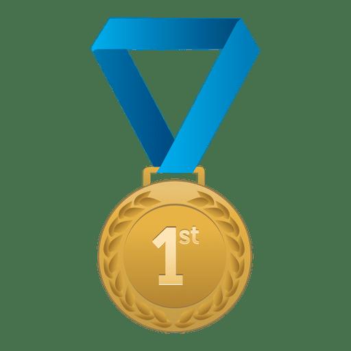 Primer lugar medalla de oro. Transparent PNG
