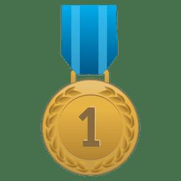 Erster Platz Medaille