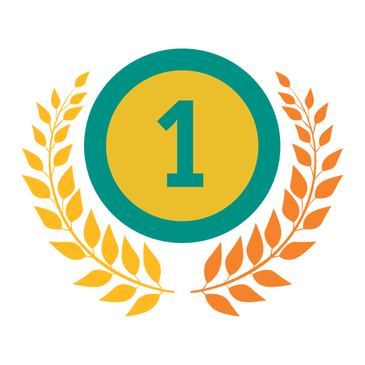 First rank badge olympic Transparent PNG