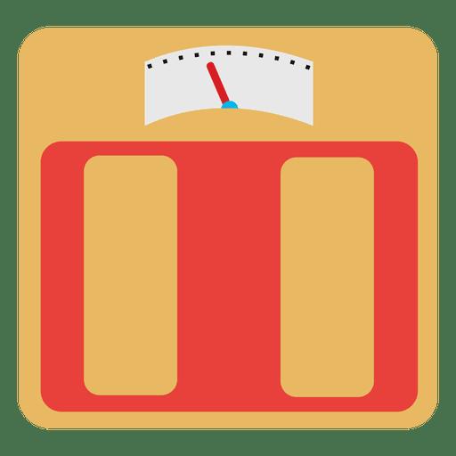 Escala de peso plana analógica Transparent PNG