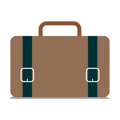 Flat briefcase icon - Transparent PNG & SVG vector
