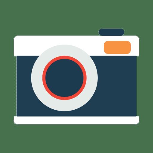 Icono de cámara plano y simple. Transparent PNG