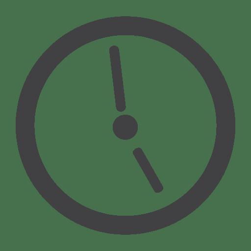 Ícone de relógio plano Transparent PNG