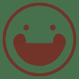 Flache aufgeregte Emoji-Ikone