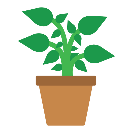 Flat flower tub icon Transparent PNG