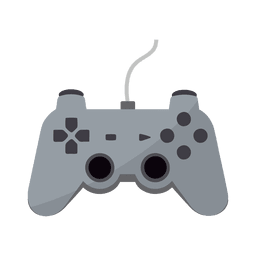 icono de controlador de juego plana