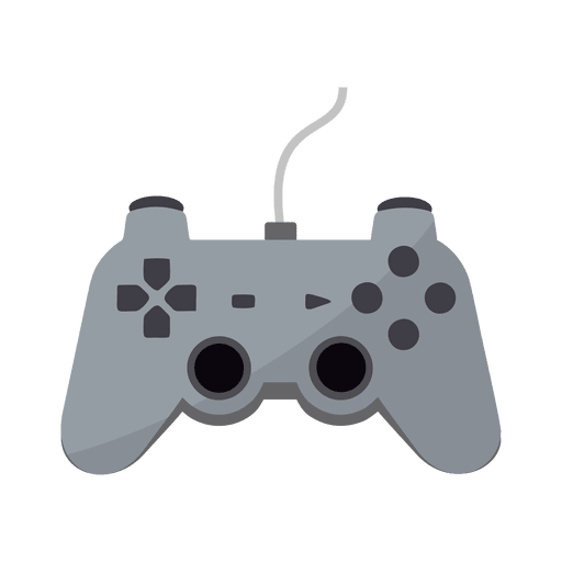 Flat gaming controller icon Transparent PNG