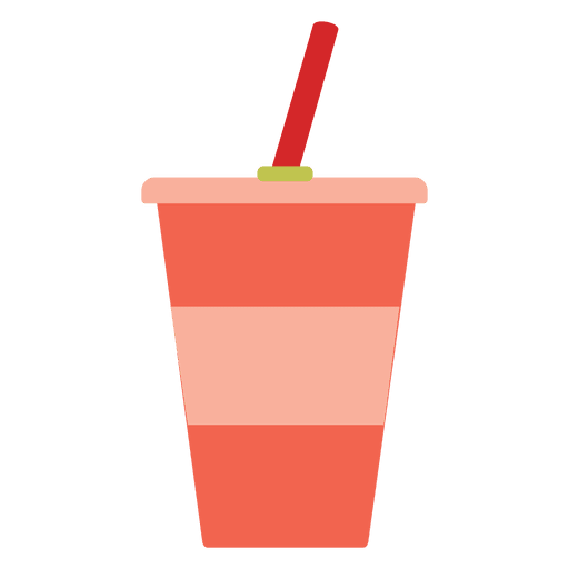 Flat glass of drinks png